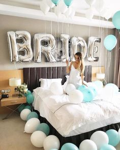 5 wedding gift boxes every bride-to-be should have - Bridal Gowns Bachlorette Party, Bachelorette Party Decorations, Bachelorette Weekend, Hotel Bachelorette Party, Bride To Be Decorations, Wedding Room Decorations, Wedding Centerpieces, Bride To Be Balloons, Bride Balloon