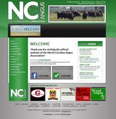 North Carolina Angus Association, clean, simple, modern, green, gray, website design, association website