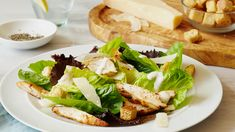 Combining succulent freshly cooked chicken breast halves with crispy lettuce leaves and a sublime dressing - this really is the ultimate Caesar salad that all the family will love! How To Cook Chicken, Cooked Chicken, Lettuce Leaves, Caesar Salad, Cooking Classes, Tray Bakes, Easy Dinner Recipes, Salads, Tasty