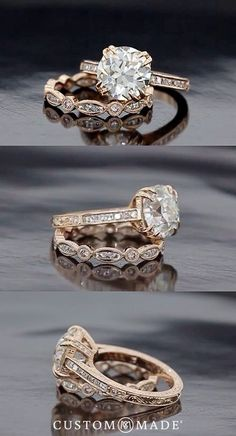 Loooooooooove this! But with white gold instead of yellow.