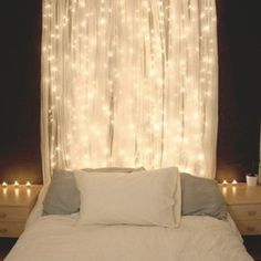 IKEA Sheer curtains 1 pair white essential for your fairy light bedroom #ikea #sheer