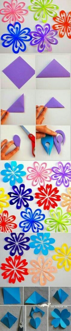 Post-it note easy DIY paper flowers Origami Paper, Diy Paper, Paper Art, Paper Crafting, Flower Crafts, Diy Flowers, Paper Flowers, Spring Crafts, Holiday Crafts
