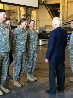Buzz makes a visit with the Army Reserves on board.