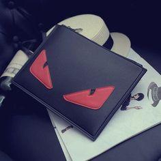 2016 Eye Monster Envelope Clutch Bag Women PU Leather Messenger Bags Famous Brand Designer Small Shoulder Crossbody Bags bolsos