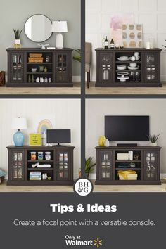 Find furniture fit for every space and style from Better Homes & Gardens at Walmart. #mediaconsole #consoletable #tvstand #mediacabinet #storagecabinet #storageconsole #consolecabinet #entryway #hallway #livingroom #familyroom #kidsroom #den #mediaroom #gameroom #diningroom