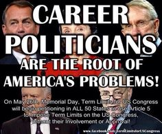 They are bought and paid for!  Term Limits!