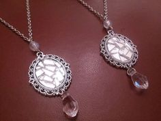 broken mirror necklaces by GothicLucia