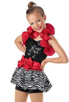 Sequin Bubble Skirt Biketard -Weissman Costumes