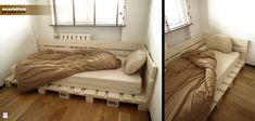 Sypialnia styl - łóżko z palet