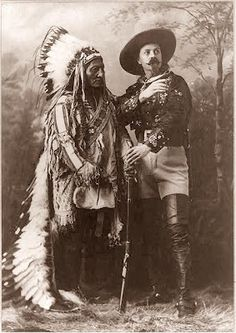 This is a wonderful photograph of two American Legends . . . Buffalo Bill Cody, and Chief Sitting Bull. The picture was taken in 1885.
