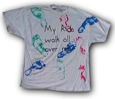 Fun for any occasion. Hands work too :)  http://familycrafts.about.com/od/personalizedshirts/ss/FootprintTShirt.htm#