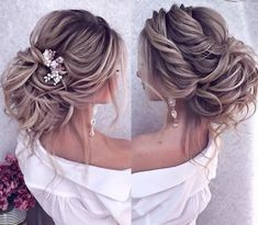Boho Wedding Hair Updo, Bridal Hair Updo, Wedding Hair And Makeup, Hair Makeup, Romantic Wedding Hairstyles, Elegant Hairstyles, Bride Hairstyles, Gorgeous Hairstyles, Hair Creations
