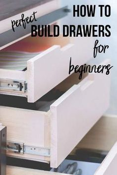 tips and tricks! Perfect guide for a beginner! How to build drawers for a beginner! They are not that hard!Great tips and tricks! Perfect guide for a beginner! How to build drawers for a beginner! They are not that hard! Easy Woodworking Projects, Popular Woodworking, Woodworking Furniture, Fine Woodworking, Wood Projects, Woodworking Classes, Woodworking Equipment, Woodworking Machinery, Woodworking Workbench