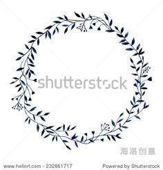 Hand-drawn watercolor floral frame made in vector 正版图片在线交易平台 - 海洛创意(HelloRF) - 站酷旗下品牌 - Shutterstock中国独家合作伙伴