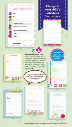 Do you have a favorite MOMMY EXCUSE PAD? Here are the ones shown in our 2013 #BACKTOSCHOOL catalog.