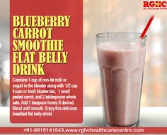 Learn how to make #Blubarry #Carrot smoothie flat belly drinks
