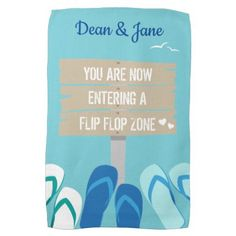 Beach Bar Surf Dude Flip Flops Beach Sign Hand Towel - surfing surfer surfers ocean salty hair beach love sun sports