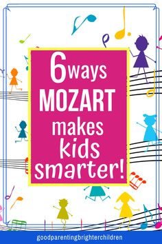 Here are 6 reasons why Mozart's music makes kids smarter. But, what KIND of smart? Taking music lessons and listening to Mozart will help make you smarter, but find out the underlying reasons why. Music Activities For Kids, Movement Activities, Brain Activities, Music For Kids, Kindergarten Activities, Infant Activities, Kids Learning, Science Education, Music Education