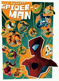 Poster illustrations by tom whalen Tom Whalen, Comic Books Art, Comic Art, Book Art, Science Fiction, Superhero Poster, Classic Horror Movies, Poster Pictures, Amazing Spiderman