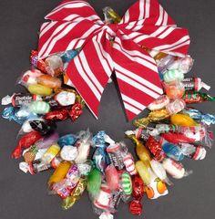 Kids Gift Edible Christmas Candy Wreath by CandyWreathsbyCarla