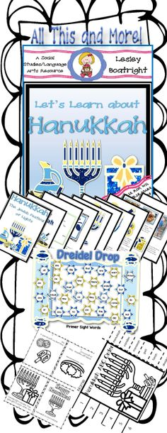 Informational Text, Comparing and Contrasting holidays, identifying main idea and key details, Dolch sight word practice, and so much more in Let's Learn about Hanukkah!