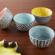Mid-Century Printed Bowls