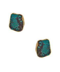 Dara Ettinger Emily Free Form Turquoise Stud Earrings #maxandchloe
