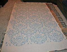 from Gardners 2 Bergers: Damask Stenciled Curtain [Tutorial]