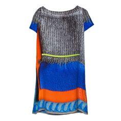 Antoni & Alison Plastic & Knit Print Dress