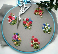 Wonderful Ribbon Embroidery Flowers by Hand Ideas. Enchanting Ribbon Embroidery Flowers by Hand Ideas. Hand Embroidery Videos, Hand Embroidery Flowers, Embroidery Works, Hand Embroidery Stitches, Silk Ribbon Embroidery, Hand Embroidery Designs, Bordado Floral, Brazilian Embroidery, Ribbon Work