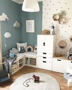Children's Room; Home Decoration; Home Design; Little Girls; Home Storage;Table setting; Home Furniture; Children's Bed Display; Children's Bed; Wall Decoration;Kids Room Source by MadameOre Baby Bedroom, Girls Bedroom, Bedroom Decor, Baby Boy Bedroom Ideas, Boys Bedroom Paint, Trendy Bedroom, Bedroom Wall, Nursery Ideas, Kids Room Design