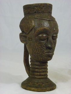 A Superb, African Tribal Art, Kuba Palm Wine Cup,Antique,Collectible,African Art