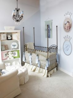 Baby Blue and Ivory Gendar Neutral Baby Nursery    COLORS