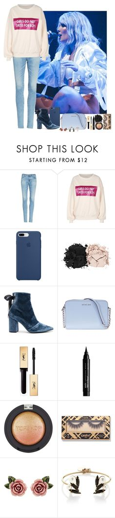 """Halsey #02"" by ambere3love34 ❤ liked on Polyvore featuring AG Adriano Goldschmied, Apple, Estée Lauder, self-portrait, Michael Kors, NYX, Topshop, Dolce&Gabbana, Anton Heunis and Shashi"