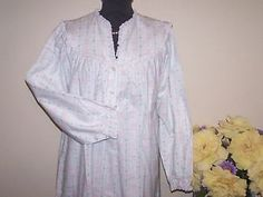 New Lanz of Salzburg long Flannel nightgown Tyrolean print hearts by Eileen West Flannel Nightgown, Nightgowns For Women, Salzburg, Modest Fashion, Absolutely Stunning, Pjs, Nightwear, Mysterious, Night Gown