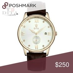 Dita #Maserati Watch Gold case with white dial Two genuine leather band, black and brown New in box with cleaning cloth Dita  Accessories Watches