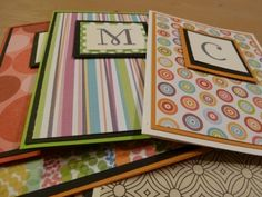 Monogrammed cards - handmade holiday idea.
