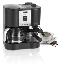 Mellerware:Modena Three in One Coffee Maker For R Coffee Maker Machine, Drip Coffee Maker, Espresso Machine, Small Appliances, Brewing, Household, Kitchen, Centre, Coffeemaker