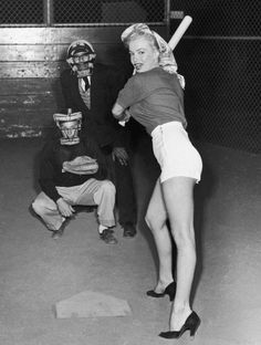 Marilyn Monroe in a publicity photo for the Chicago White-Sox, March 1951.