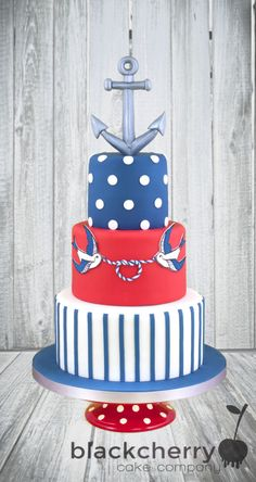 Nautical Tattoo Wedding Cake