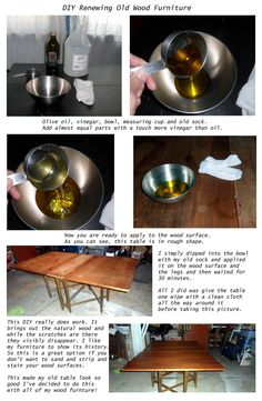 DIY Wood Furniture with Oil and Vinegar