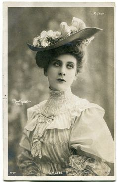 Vintage French RPPC Postcard Artist Stage Star Miss Sylvie Reutlinger I   eBay