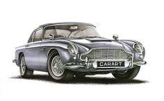 Aston Martin DB5 1963 Markers 70x50cm 2011y - drawn on order  Nikodem Sabak & Kędzierski Konrad