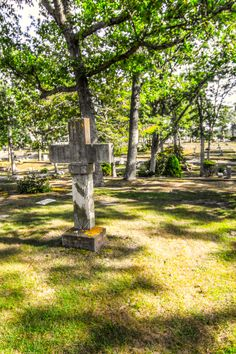 A cross on the hill, Westhampton Cemetery, Westhampton, NY (08/09/2016)