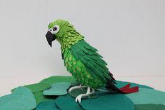 Cool cut paper birds by Diana Beltran Herrera, from Colombia