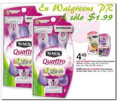 Schick Quattro for Women a $1.99 en Walgreens PR