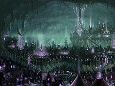 fantasy cityscapes buildings drawings drow menzaberanzan 1680x1132 wallpaper