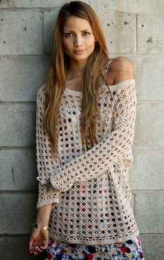 How to Crochet Your Own Heirloom Boho Sweater - Free Chart... ༺✿ƬⱤღ http://www.pinterest.com/teretegui/✿༻