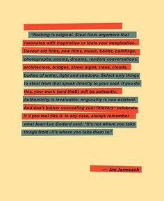 Jim Jarmush on creativiy.