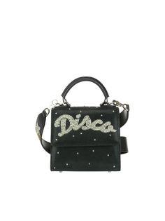 LES PETITS JOUEURS BABY ALEX DISCO STRASS BAG. #lespetitsjoueurs #bags #shoulder bags #leather #